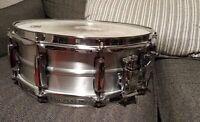 Pearl Sensitone Elite 14X5 Aluminum  Beaded Shell Snare Drum Rare