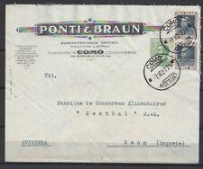 581)) Italie MIF entreprises lettre publicitaire Lettre Ponti & Marron Como, gel. N. Seon (CH)