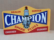 New ListingChampion Spark Plug Dealer Service Flange Sign Gas Oil modern retro