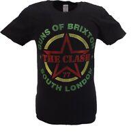 Mens Black Official The Clash Guns of Brixton T Shirt