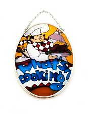 Joan Baker Designs Stained Glass Suncatcher Mosaic Chef What's Cooking? Kitchen