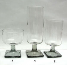 Lot of SEVEN (7) - FEDERAL GLASS - NORDIC / SMOKE Pattern