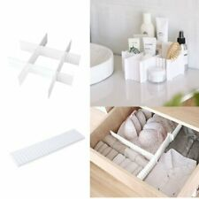 4 Pack of Adjustable Drawer Dividers - Wardrobe Clothes Organiser White