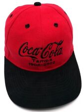 COCA-COLA / TAMPA FL, BOTTLING 100th anniversary red adjustable cap / hat