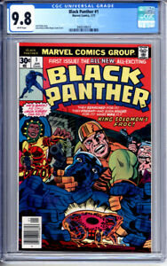 BLACK PANTHER #1 CGC 9.8 WHITE PAGES JACK KIRBY 1977