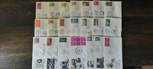 Lot of 1958 United States FDCs - Some addressed and sealed; MNH