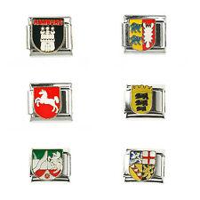 6 Stati federali Stemma Bandiera Bandiera Italia Charm modulo adatto per 1 Nomination