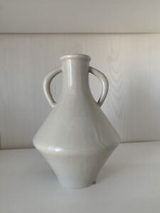 Sold Out H&M Home Stoneware Grey Gloss Vase Scandi Pot Bud Homeware Hm Rare