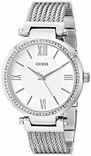 GUESS Women's Round Stainless Steel Band Wristwatches