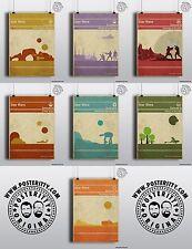 Star Wars Book Covers x 7 Minimalist Movie Poster Posteritty Minimal Jedi Hope
