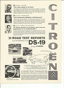 9 Original Citreon, 1 Panhard Print Ads from 1957, 1958, 1959, 1960, or 1961