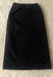 SISLEY 250$ Black Padded Midi rick Pencil Straight Skirt owens Italy S 38