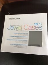 Memorex Jewel Cases 10 pack - Clear