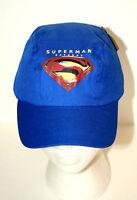 Blue Superman Returns DC Comics Bicycle Baseball Cap Hat New Tags 2007 Youth SZ