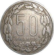 Equatorial-African-Sates-Congo-Gabon-Chad-Centrafrica 50 Francs 1963 KM#3 (4368)