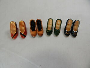 Dollhouse  Miniature 1:12 Scale Heidi Ott 4 pairs  Women's Resin Shoes #XZ773-B