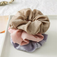 Solid Cotton Elastic Scrunchie Sports Ponytail Hair Rope Headwrap Hair Accessory