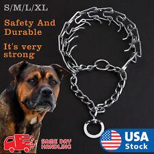 Pets Dog Training Guardian Gear Collar Chain Pet Metal Prong Pinch Choke