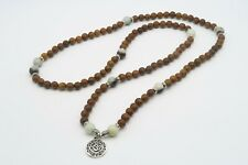 Mala Beads 108 Meditation Rosary Prayer Yoga Necklace Bracelet Wood Chakra UK