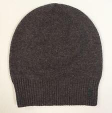 Polo Ralph Lauren Gray Wool & Cotton Blend Beanie Green Pony Adult One Size NWT
