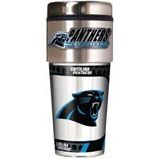 Carolina Panthers NFL Stainless Steel 16oz Travel Tumbler Mug with Emblem