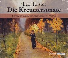 Leo Tolstoi: Die Kreutzersonate. Ungekürzte Lesung von Axel Grube 4 CDs, NEU OVP