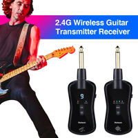 2.4G Wireless Guitar System High/Low Gain Mode 10 Channels for Electric Guitar