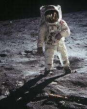 New 8x10 NASA Photo: Astronaut Buzz Aldrin walks on the Moon, 1969 Lunar Landing