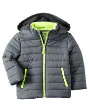 Carters Blue Gray Puffer Winter Warm Coat Jacket Fleece...