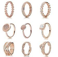 925 Silver Rose Gold Timeless Elegance Love Eternal Braided Rings For Women