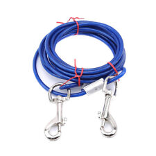Pet Dog Leash Collar Steel Wire Cable With Metal Strap Lead Hook Harness FM