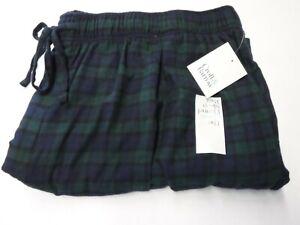 MENS BIG TALL 4XB CROFT BARROW GREEN BLUE PLAID FLANNEL SLEEP PANTS NEW #19981