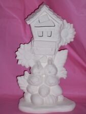 Ceramic Bisque Ready to Paint Love Nest with Base and clip in light