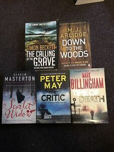 Crime Thriller Book Bundle X 5 -LOTS LISTED Free P&P (55)