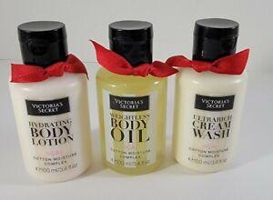 Victoria's Secret ACAI Cotton Moisture Complex 3.4 fl.oz Cream Wash Lotion Oil