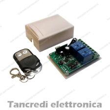 Scheda Ricevente Ricevitore 12V 433 Mhz 2 Relè Canali con Telecomando Centralina