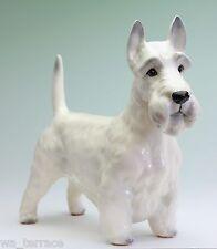 White Scottish Terrier Wheaten Scottie Porcelain Dog Figurine Japan NEW