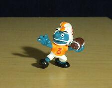 Smurfs Football Quarterback Smurf Vintage Figure Toy PVC Figurine Schlumpf 20170