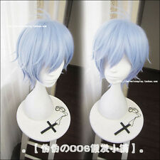 Game A3! Ikaruga Misumi Costume Cosplay Wig + Cap Unisex Blue Short Hair