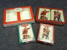 1994 Coke Coca-Cola Santa Christmas Double-Deck Playing Card Tin Set Unused MIP