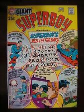 Superboy Giant #165 VF Red Letter Days