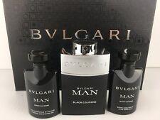 BVLGARI BLACK MEN COLOGNE 3PC GIFT SET 2.0 +A/SHAVE + S/GEL 1.35 OZ NEW IN BOX