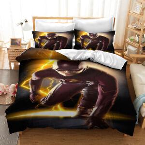 Superhero The Flash 3D Duvet Single/Double/Queen/King Bed Quilt Cover Set B