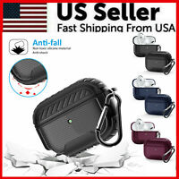 For Apple AirPods Pro Case Slim [Rugged Armor] Matte Heavy Duty Shockproof Cover