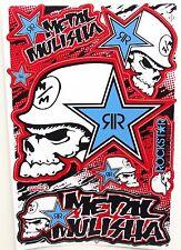 Set Pegatina Sticker MX motocross metal Mulisha rojo azul 265 x 170 mm #m11