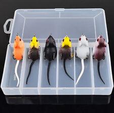 6pcs/Lot & Box Soft Lures Fishing Lure Soft Mouse Rat Bait Lures Tackle 8.6g/5cm