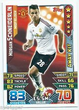 2015 / 2016 EPL Match Attax Away Kit (430) Morgan SCHNEIDERLIN Manchester United