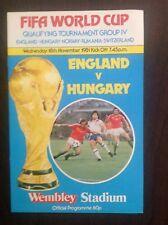 England v Hungary 1981 programme