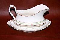 "Antique Homer Laughlin Fine American Porcelain 8"" Gravy Boat w/ Underplate"