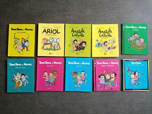 Lot 10 Livres enfant Tom-tom et nana ariol anatole latuile bayard poche BD kids